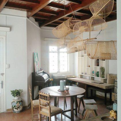 Không gian trang trí vintage Nhà ăn tại Second house homestay đà lạt
